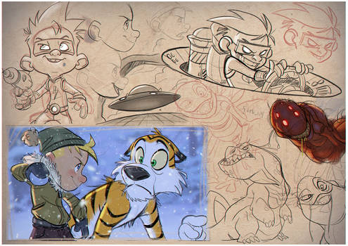 Calvin and Hobbes Sketches