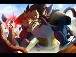 Goku Kaiohken VS Vegeta Ozharu