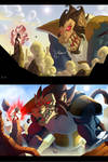 Goku vs Vegeta Ape b4 and after