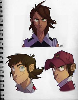 Captain Tsubasa  face sketches