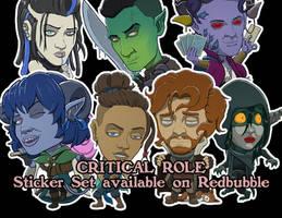 Critical Role Campaign 2 Stickers