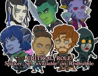 Critical Role Campaign 2 Stickers by devillo