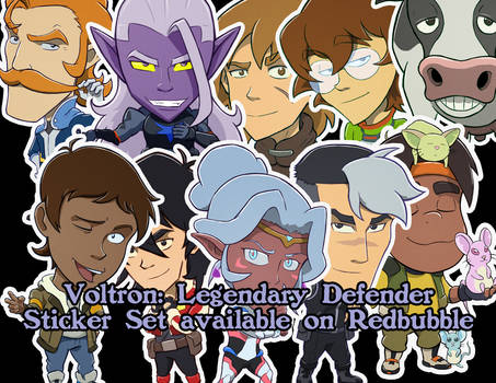 Voltron Sticker Collection