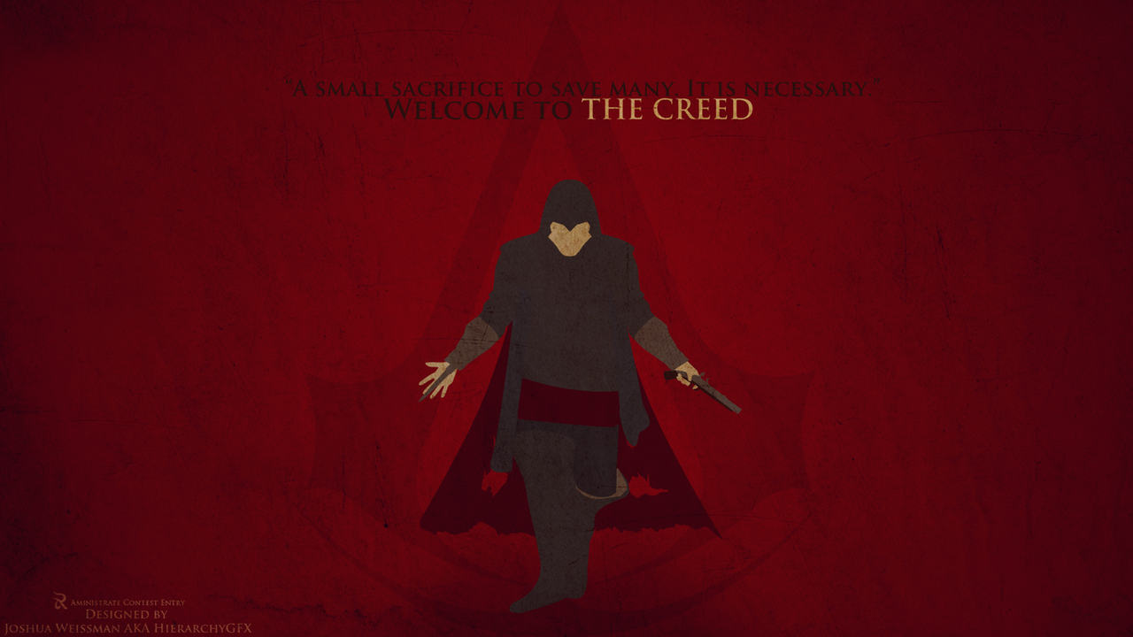 Cool Wallpaper Harry Potter Minimalistic - minimalist_assassins_creed_wallpaper_version_by_hierarchygfx-d54737p  Collection_92669.png