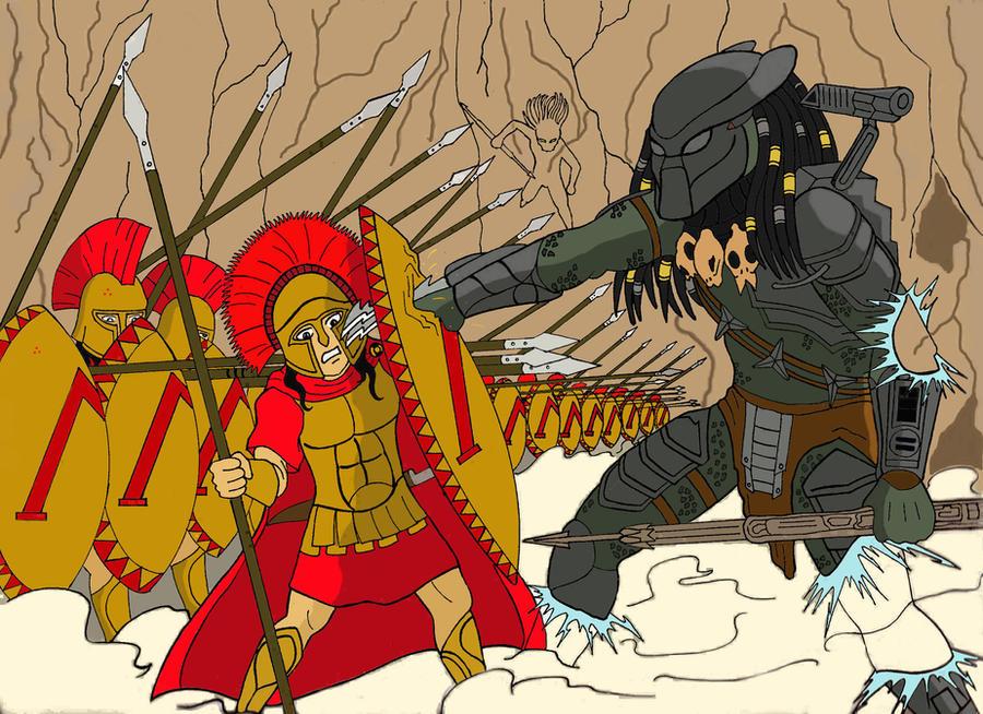 spartan vs predator  color by mangudai-79