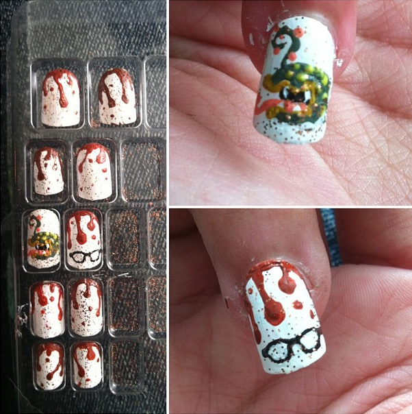 Little Shop nail art by herra97 on DeviantArt