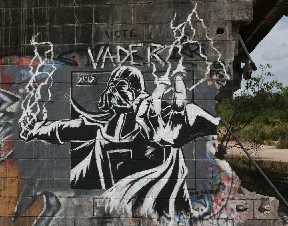 Darth Vader Graffiti by Taylor-the-Weird