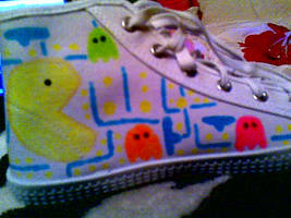 PACMAN SHOES by sixtailedwolf