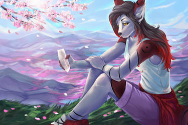 Sakura petals for Lunamieko by ktrew
