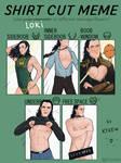Loki - shirt cut meme