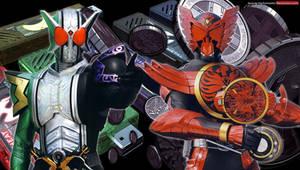 Kamen Rider OOO and Kamen Rider W
