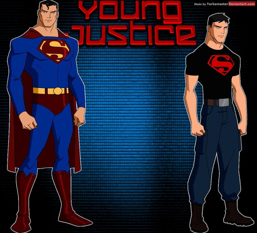 Young Justice: Superman and Superboy by YorkeMaster on ... Young Justice Superboy Wallpaper