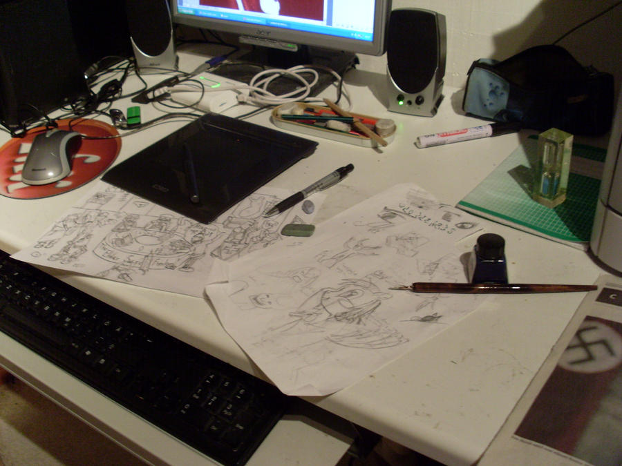 My working area2