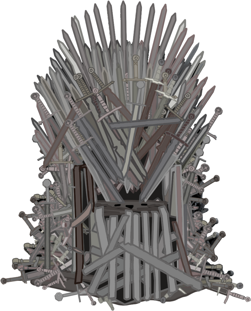 iron throne by sadlylover on deviantart