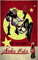 Fallout 4 Nuka Cola poster by SadlyLover