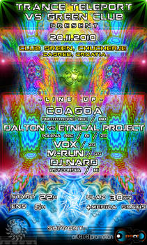 TranceTeleport Party Flyer