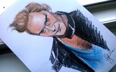 Tom Hiddleston, pastels by AlexSpooky