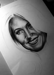 Gillian Anderson, WIP by AlexSpooky