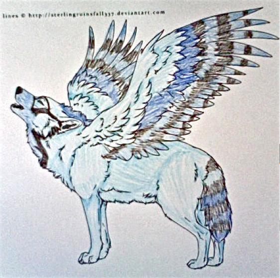 Winged Wolf Fursona Winged Wolf Adopt -CLO...