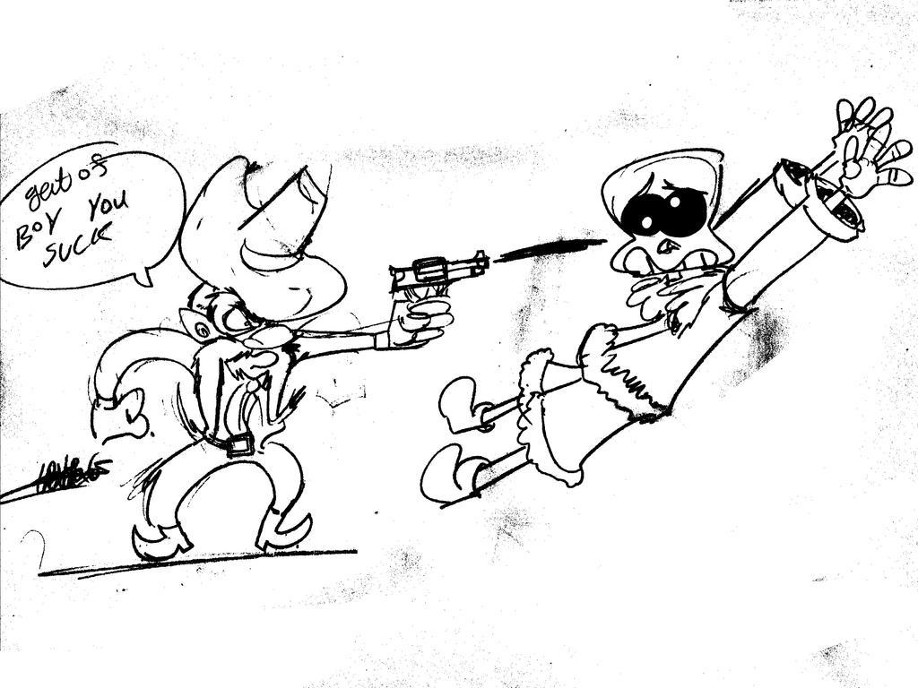 Looney tunes Yosemite Sam Vs sans by TPCKRULEZ
