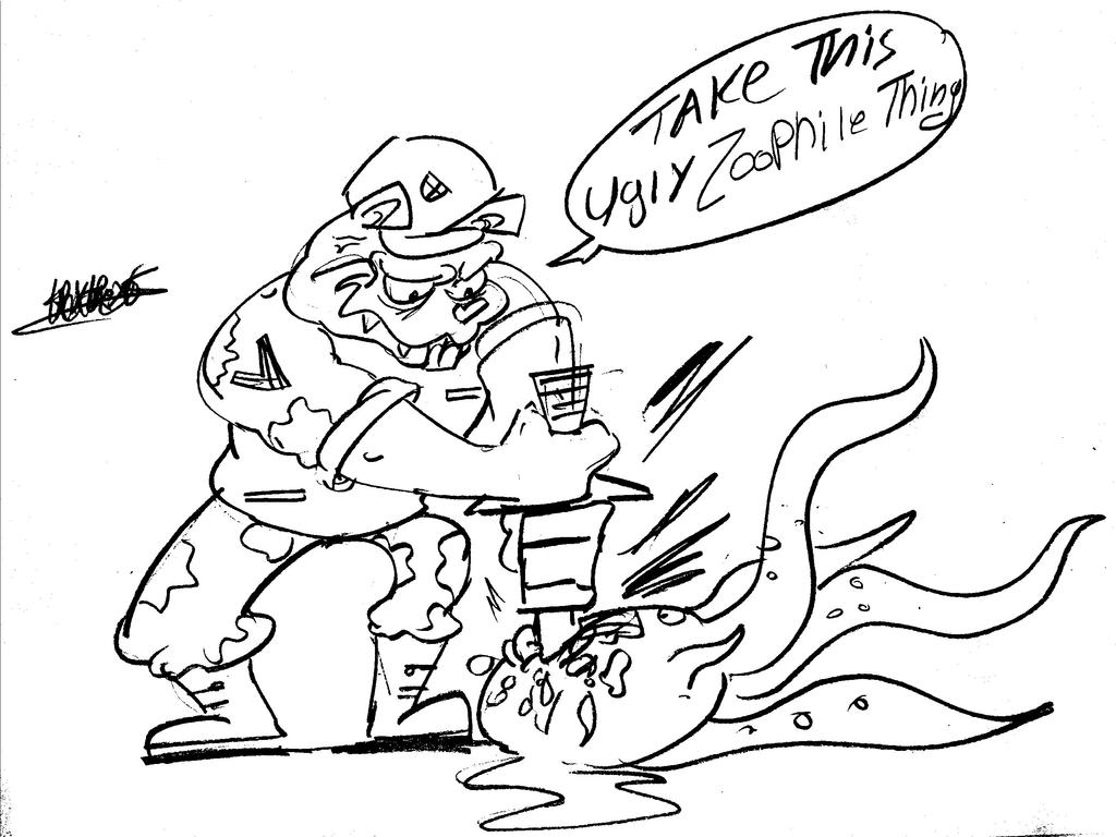 Flippy Vs Evil tentacles by TPCKRULEZ