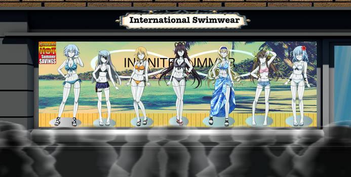 International Swimwear - White Plastic + Story