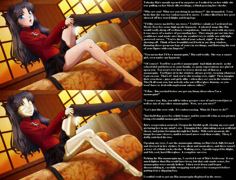 Tohsaka Rin Mannequin Caption