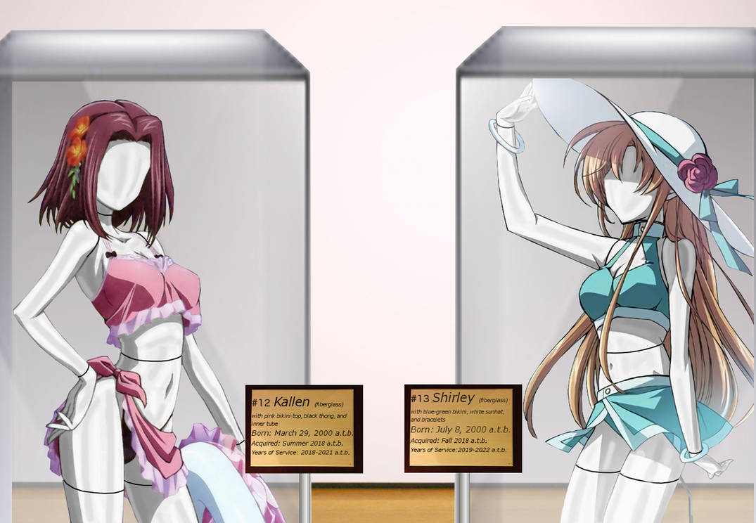 Kallen and shirley mannequins in display cases by adi1625