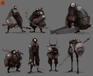 Substrata Land Dwellers Lineup by fightpunch