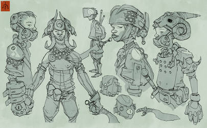 Substrata Child Soldiers Sketches 2