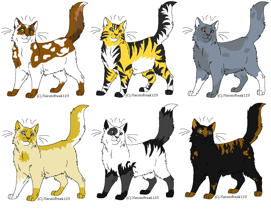 Warrior Cats Adoptables By Umbreonthepirate On Deviantart