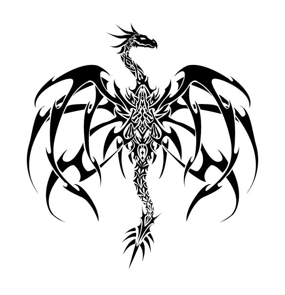 Original Dragon Tattoo Vector by ValliantCreations on