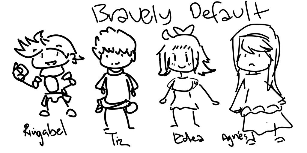 Sketchies- Bravely Default by Windaura