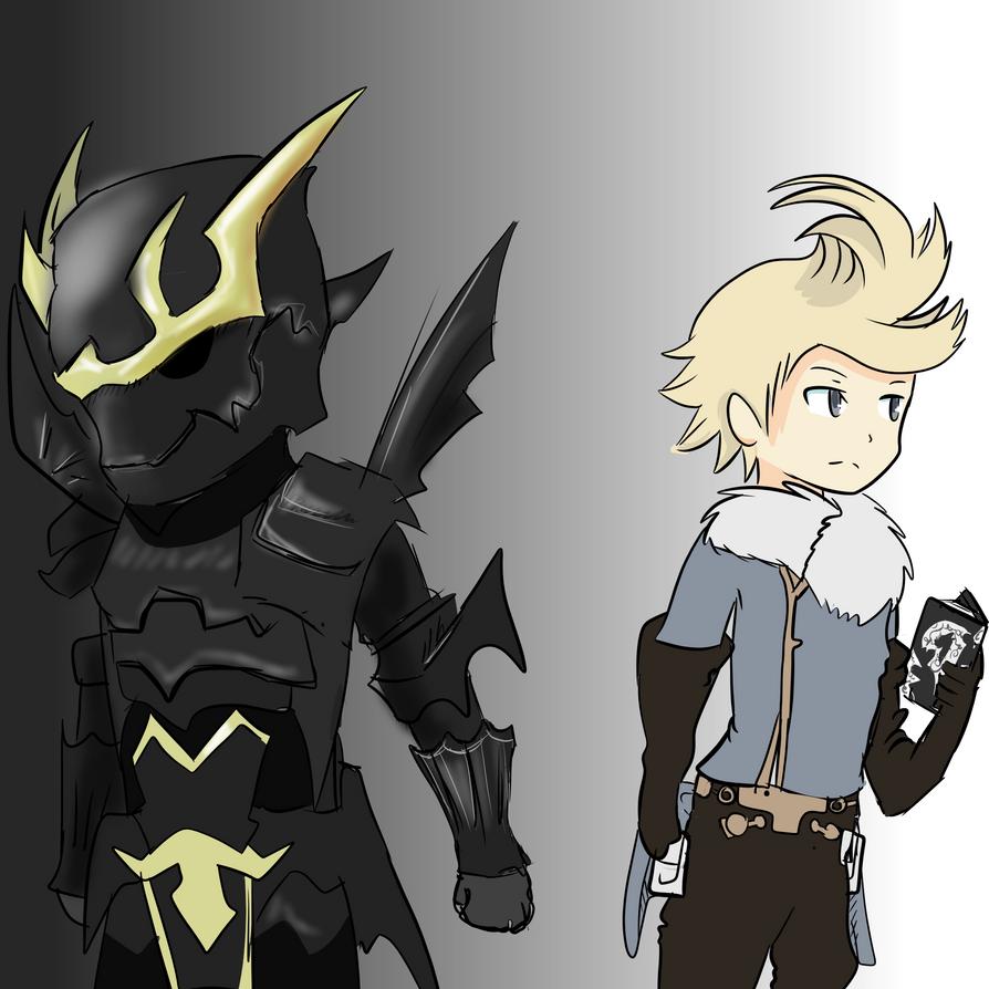 Dark Knight Alternis and Ringabel by Windaura