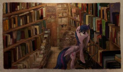 Vintage Bookshop Sparkle by Hewison