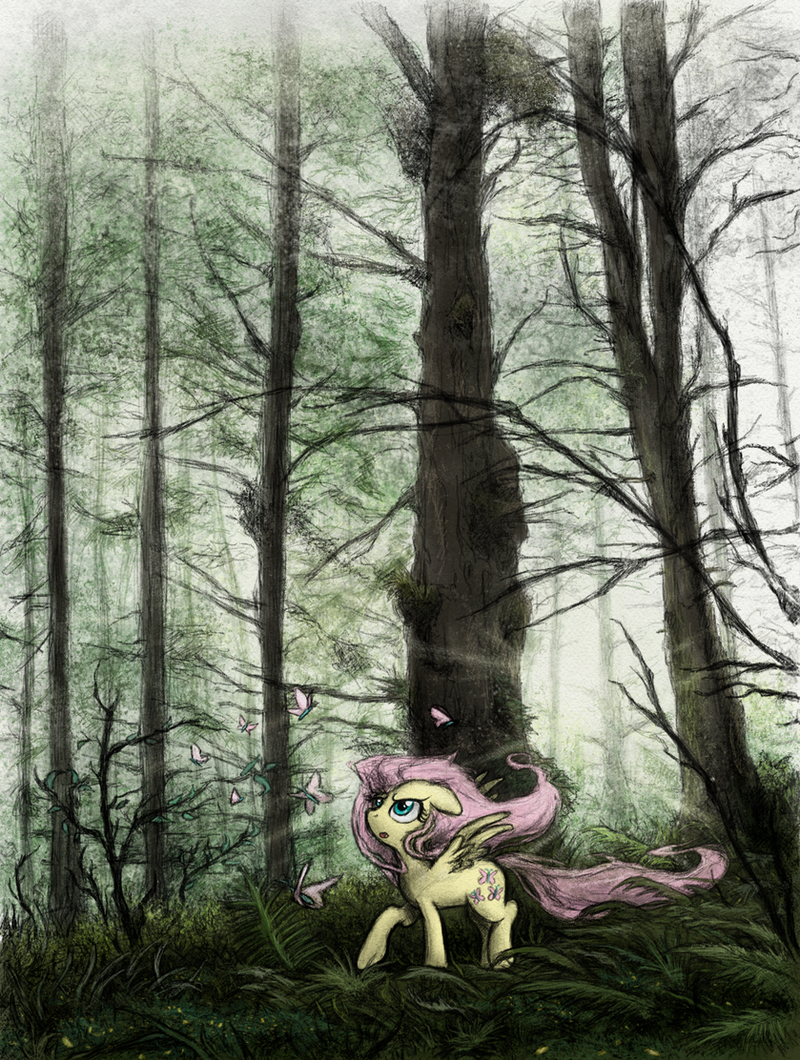 Pony art of the non diabetic variety.  - Page 26 Forest_fog_fluttering_by_hewison-d9yj0ff