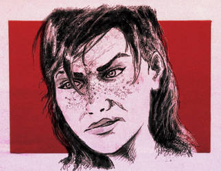 Angry FemShep by Hewison