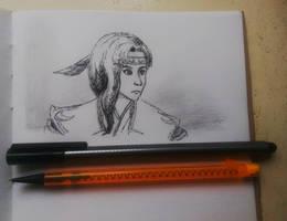 FFXI Inktober Iroha sketch