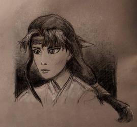 Iroha sketch (Inktober 2019 re-visit)