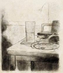 Water glass study (Inktober 2019)