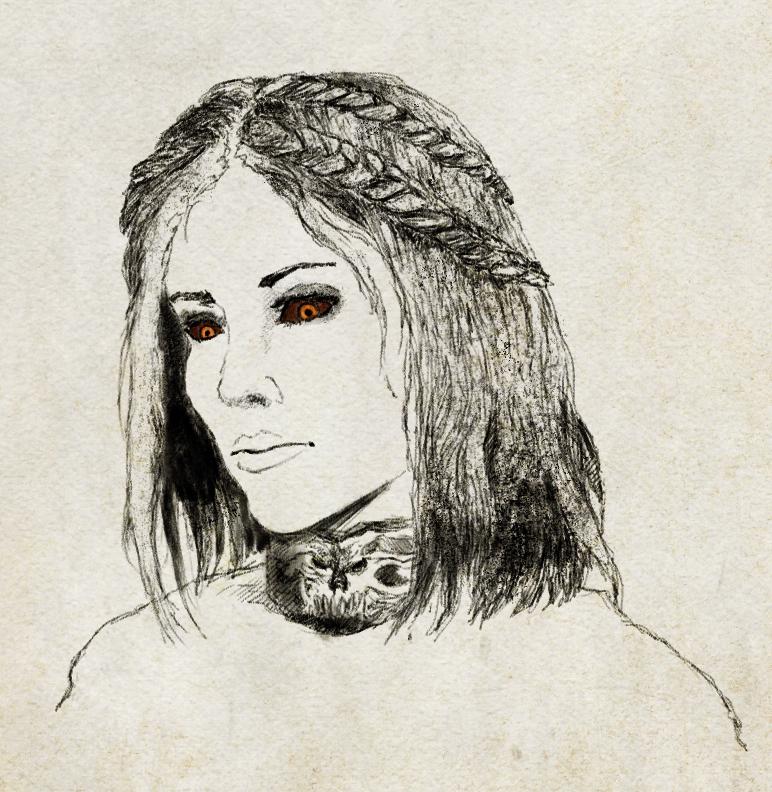 Skyrim Serana Sketch Study