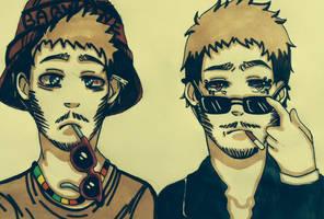 Fan Art Hippie et Patron sans lunettes - SLG by MavaN32