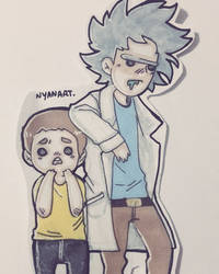 Rick et Morty fanart by MavaN32