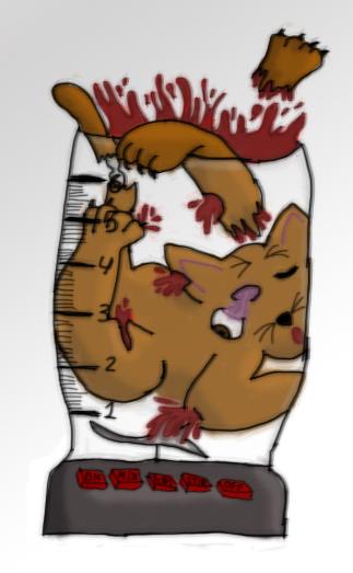 Kitty In A Blender ~ Cat in a blender by tigerivy on deviantart