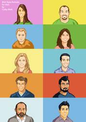 Hulu 8-bit Portraits