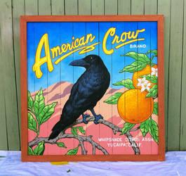 American Crow Orange Crate Label Sign