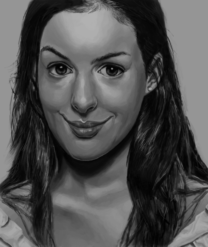 Anne Hathaway by limnarian