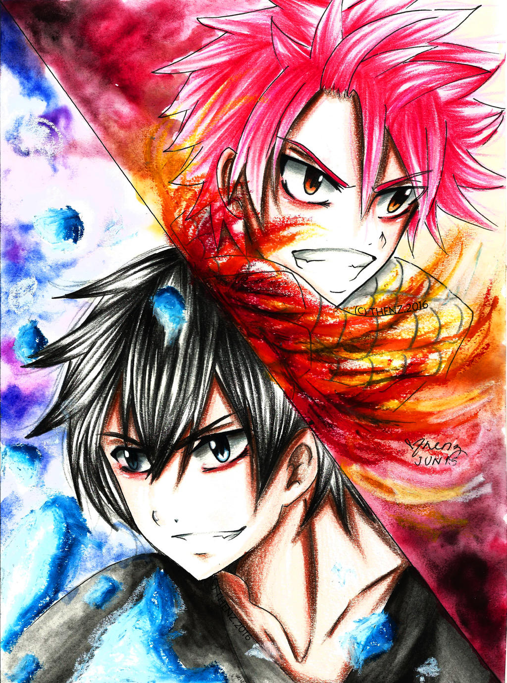 Fairy Tail: Natsu Dragneel | Gray Fullbuster by thenzcchi ...