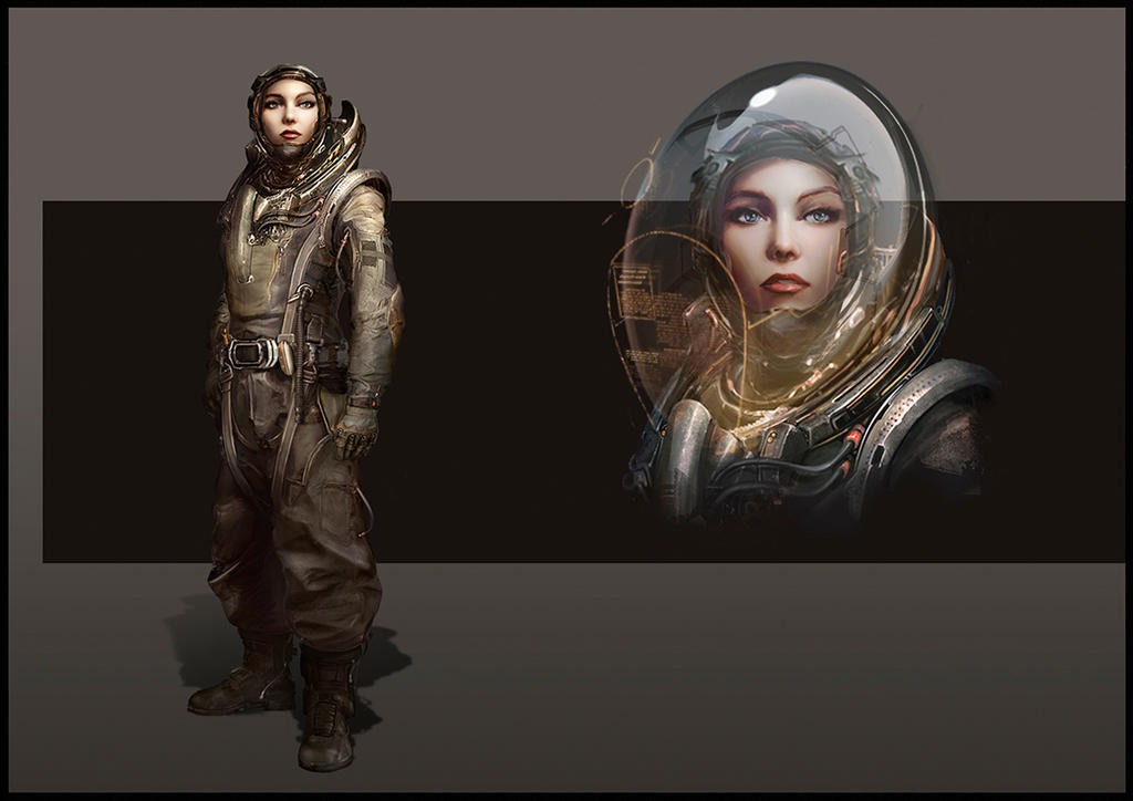 Space pilot by LazarK