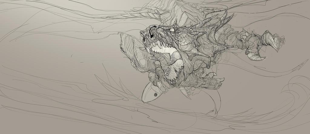 Fisherman dragon by LazarK